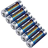 Neewer® 6 Pack Count LR6 Alkaline AA Lithium Batteries 1.5V 2800mAh Reliable Long Lasting Power for Canon, Nikon, Sony Flashes, LED Video Lights, Battery Grips with AA Battery Holder and More