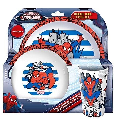 Spider-Man ultime, verre, bol, Assiette, Lot, Multi, Lot de 3