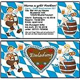 Einladungskarten zum Geburtstag Oktoberfest bayrisch Einladung 50 Stück o-zapft-is Hüttengaudi Geburtstagseinladung Mottoparty Karte Bayernn