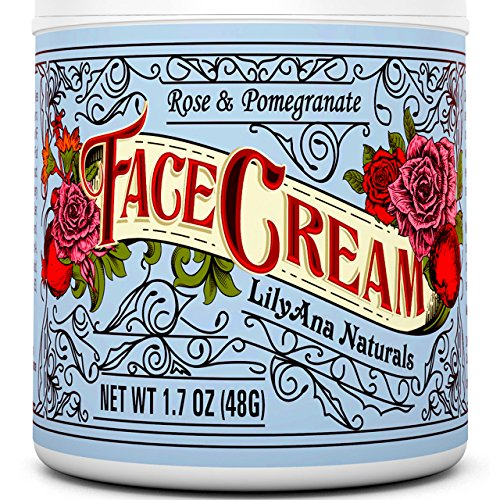 Face Cream Moisturizer (2oz) 95% Natural Anti Aging Skin Care by LilyAna Naturals -