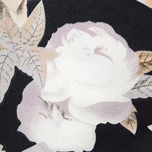 Baymate Femmes Off-Shoulder Floral Bodycon Parti Robe Courte Manche Court Comme image