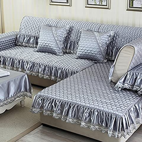 Sofa Mat Fabric Non-Slip Simple Modern European Four Seasons Living Room Sofa Towel Cover Chaise Solid Wood
