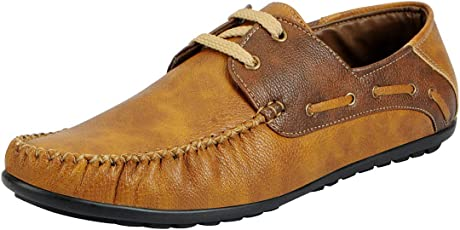 FAUSTO Men's Synthetic Boat Shoes