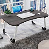 Star Laptop Desk 2019 Foldable Bed Study Table Portable Laptop Table Lapdesk for Children Bed Work Office Gaming Home with Tablet Slot & Cup Holder Bed Breakfast Serving Table(Black Gold)