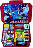 American Miniatures Candy Gift Box Hamper | A Great Chance To Try Lots Of American Classics | Letterbox Friendly | Glossy Red Hamper Box | Hershey's | 24 Items | Mini Hamper exclusive to CANDYPLANET