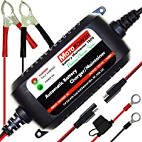 MOTOPOWER MP00206A 12V 1.5Amp Caricabatterie / Mantenitore completamente automatico per auto, moto, ATV, camper, Powersports, barche e altro. Intelligente, compatto ed ecologico