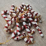 Kicode 12 STÜCKE Weihnachtsbaum Süßigkeiten Stock Hängende Verzierung Home Party Festival Weihnachtsdekor Kunststoff Lustig
