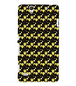 EPICCASE golden leaves of heart Mobile Back Case Cover For Sony Xperia C4 (Designer Case)