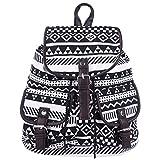 Damen Rucksack,Coofit Canvas Rucksack Damen Daypack Schulrucksack Schultaschen Taschen Freizeitrucksack