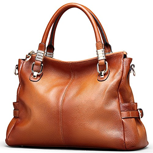 Jack Chris Exquisite Women Ladies' Genuine Leather Tote Satchel Shoulder Handbag, SF0951 61dELApYqpL
