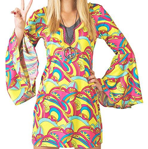 Love Kostüm Hippie Summer (Hippie Hannah Kostüm für Damen Gr. 40)