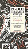 Telecharger Livres Paroles de la Grece antique (PDF,EPUB,MOBI) gratuits en Francaise