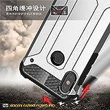xinyunew Funda Xiaomi Redmi Note 5 Pro, 360 Grados Protección +Vidrio Templado Protector Pantalla Silicona Caso Cover Case Carcasas TPU + plastico Anti Arañazos de Protectora - Rose