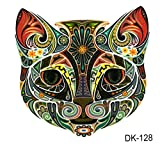 JUSTFOX - Temporäres Tattoo Katze cat La Catrina