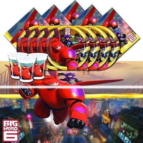 Offizielles Disney Big Hero 6komplett Party Supplies Kit für 8 - Spielzeug Big 6 Hero