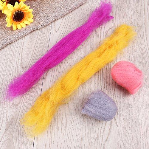 rosenice Wolle Filz-Wolle 36Farben aus für afieltrar Hand Spinning DIY