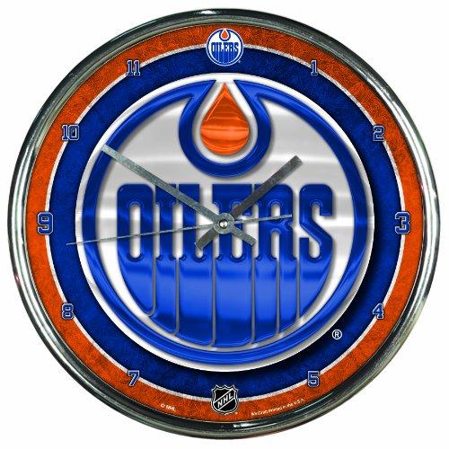 Wincraft Edmonton Oilers Chrome NHL Wanduhr