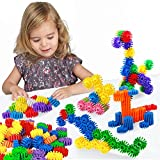 Building Blocks Puzzles Sets,FIOLOM Educational Learning Toys Interlocking Solid Gear Set Preschool Gifts For Boys Girls Kids Over 2 3 Year Old