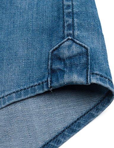 Replay Herren Jeans Hemd Blau (Blue Denim 9)