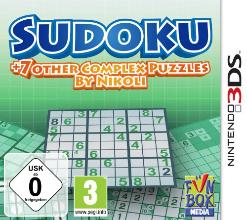 Sudoku + 7 other Complex Puzzles by Nikoli - [Nintendo 3DS]