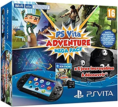 Console Playstation Vita 2000 + Voucher Adventure Games Mega Pack + Carte Mémoire 8 Go pour Ps Vita [Importación Francesa]