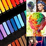 DIY Hair Chalk, Moon mood® 36 Color Hair Chalk Temporary Hair Color Pastel Hair Dye Set Non-toxic