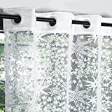 #1: Story@Home Fancy Sparkling Door Window Sheer Strip Set of 2 Premium Polyester String Beads Hanging Net Curtain - 7ft, Milky White