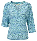 Royal Robbins Women's Oasis Printed Pullover Top - Light Lapis, Small