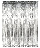 PARTY PROPZ SILVER METALLIC FRINGE FOIL ...