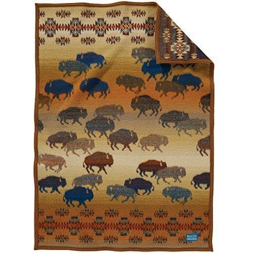 Pendleton Prairie Rush Hour Muchacho Wool Baby Blanket,32 x 44 inches,BROWN by Pendleton