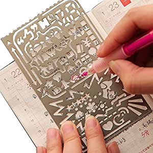 Multifunctional Drawing Template Portable Drawing Ruler Stainless Steel Stencil Metal Drawing Ruler
