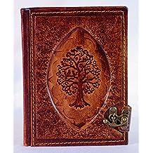 Atelier Bebek Carnet en cuir, journal intime avec fermeture, livre d'or