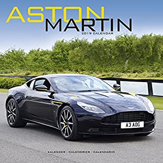ASTON MARTIN 2019 CALENDAR WALL SQUARE (30cm x 30cm) NEW AND SEALED BY AVONSIDE CALENDARS
