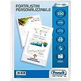 Favorit 460333 Portalistino Personalizzabile con 100 Buste 22 X 30 cm, Trasparente