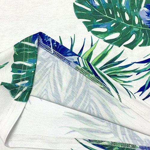 Jiayiqi Herren Lässige 3D Druck Kurzarm T-Shirt Abschläge 4 Größen Erhältlich No.4