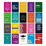 20er Postkarten Set STUDENTEN mit Sprüchen von VISUAL STATEMENTS® / Hochwertige Spruchkarten / 350g Bilderdruckkarton / 12 x 17,5 cm (XXL) / 20 verschiedene Motive / 20er Set Nr. STUDENTEN