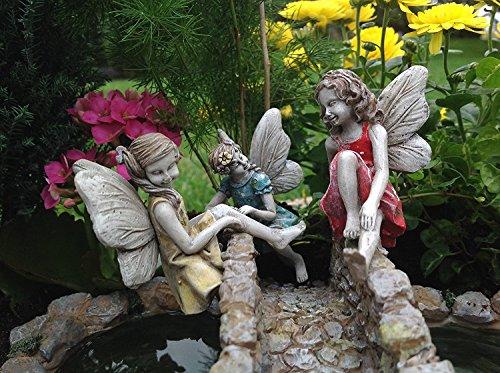 Miniatur Klettern Feen (Set von 3-1Blau, 1Pink, 1Gelb)-Mini Puppenhaus Teilig GNOME Fairy Garden Village Zubehör Dekor -