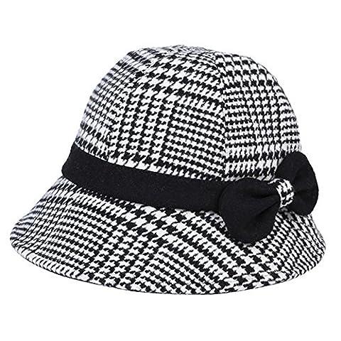YANXH Herbst und Winter neue Hut Dame Fashion Fisherman Hut Adjustable Bowl Hat , black and white , (Männliche Kaninchen-kostüm)