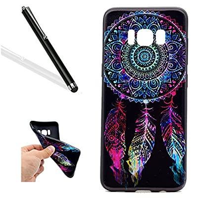Samsung Galaxy S8 Case,Galaxy S8 Soft Case Cover,Leeook Creative Cool Funny Black Smile DON'T TOUCH MY PHONE Pattern Design Lightweight Ultra Slim Thin Flexible TPU Silicone Protective Gel Plastic Shock Absorption Proof Drop Defend Anti Scratch Shell Bump