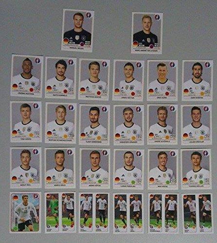 Panini EURO 2016 France - Deutsche Nationalmannschaft komplett (Sticker 241-266) Deutschland