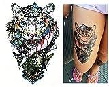 Tatuajes temporales Tempo rary Tattoo Fake Tattoo–De Tigre