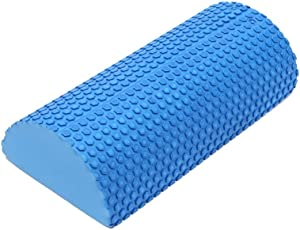 IRIS Fitness EVA Half Round Yoga Foam Roller (30 cm) Massage Floating Point Column Exercise Fitness Trigger Roller