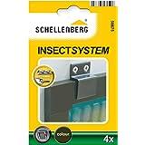Schellenberg 50675 Inhanghoekjes, 4 stuks, optioneel voor het lijmen van insectenwerende ramen