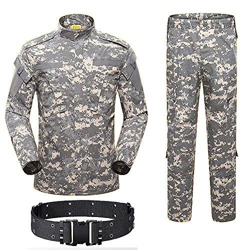 H Welt Shopping Herren Shirt Tactical BDU Combat Uniform Jacke & Hose Anzug für Armee Militär/Paintball/Jagd Shooting Krieg Spiel ACU, ACU