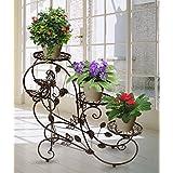 HLC 3 Macetas y macetero modelo 73 cm plantas soporte estantería - Estantería soporte para plantas flores,color bronce