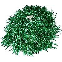 Ayozen - 1 par de pompones para animadoras (mangos con agujeros, 0,02 kg cada uno), 6 colores disponibles verde verde