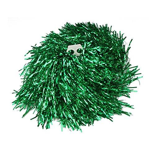 1 Paar Doppel Halten Hand Shank Cheerleader Pompons, Preis / 2 Stück, 0.02 kg / Stück, 6 Farben - grün (Cheerleader-grün)