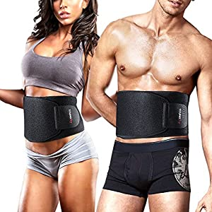 Youngdo Waist Trimmer Ab Belt Trainer for Men and Women Adjustable Slimming Belt Belly Fat Burner with Back Support for Faster Weight Loss and Gym Workout by Shenzhen Amymore E-commerce Limited