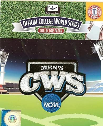 NCAA Men's College Baseball World Series Patch Authentic Official Jersey Logo by Emblem Source