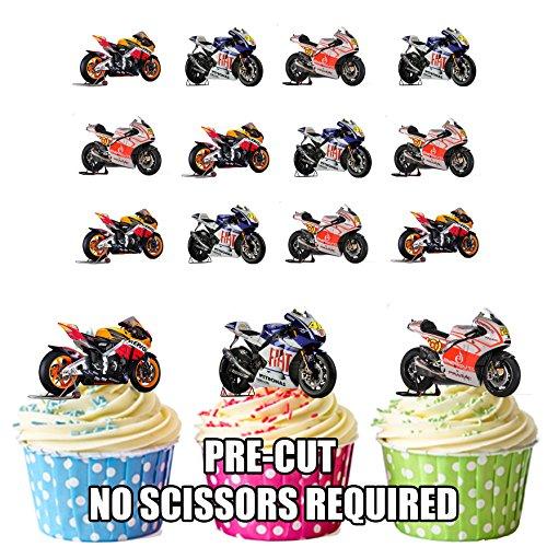 Ducati Honda Yamaha Mix 12Esspapier Cup Cake Topper Dekoration ()